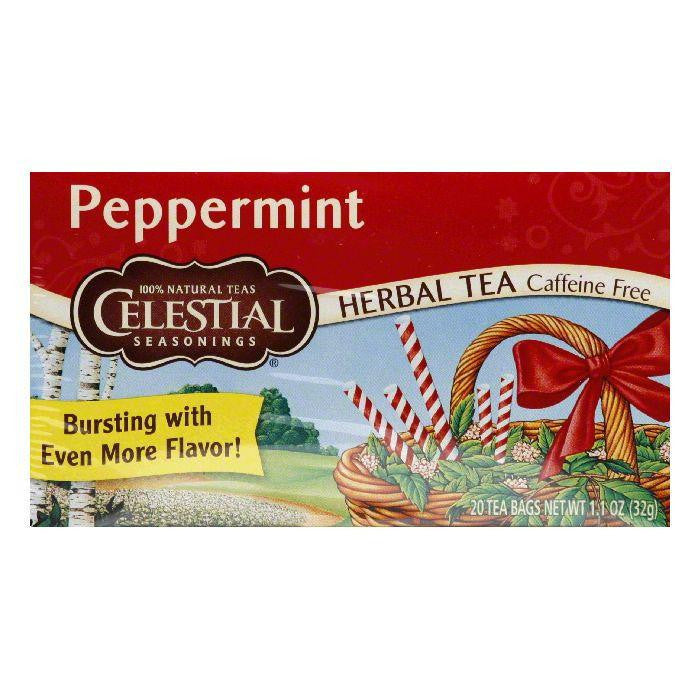 Celestial Seasonings Herb Tea Peppermint, 20 BG (Pack of 6)