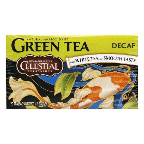 Celestial Seasonings Green Tea DECAF, 20 BG (Pack of 6)