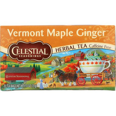 CELESTIAL SEASONINGS VERMONT MAPLE GINGER, 1.0 OZ (Pack of 6)