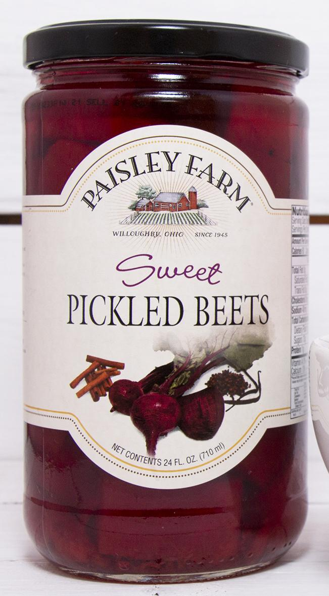 Paisley Farm Sweet Pickled Beets, 24 OZ (Pack of 6)