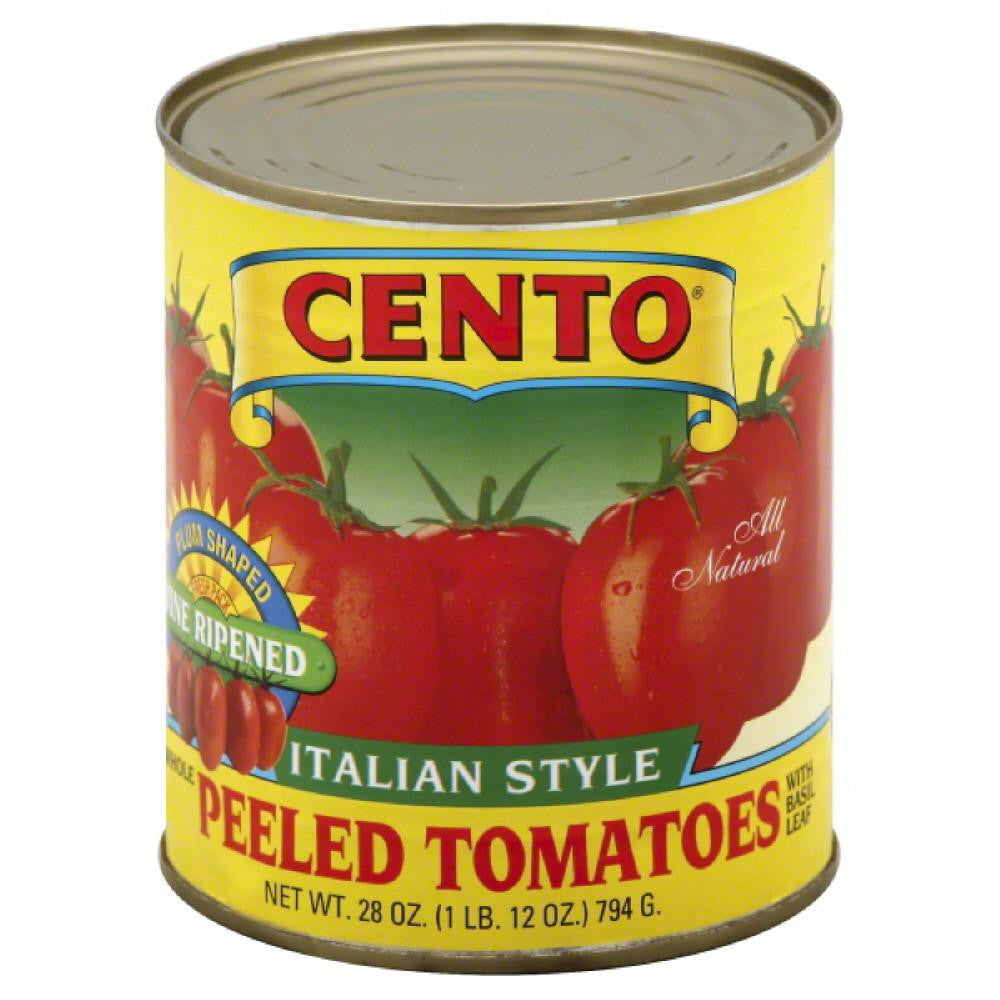 Cento Whole Peeled Tomatoes with Basil Leaf, 28 Oz (Pack of 12)