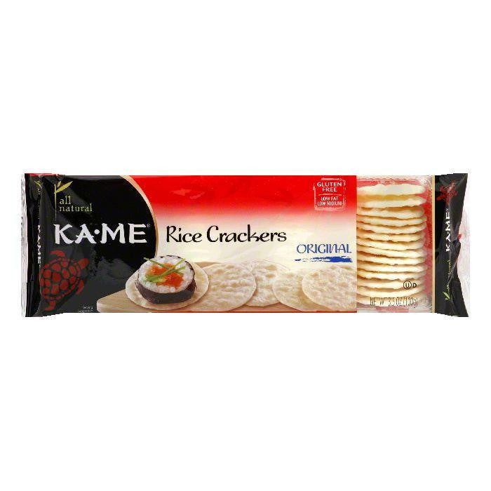 Kame Crunch Cracker Plain, 3.5 OZ (Pack of 12)