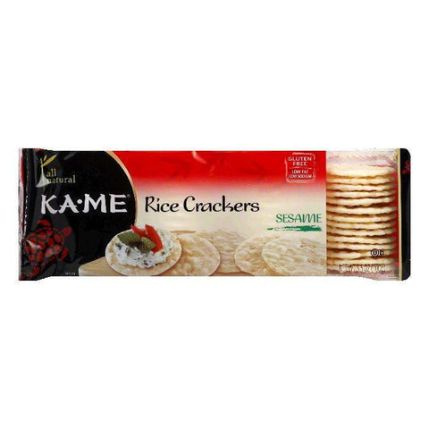 Kame Rice Cracker Sesame, 3.5 OZ (Pack of 12)