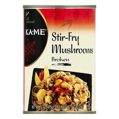 Ka Me Broken Stir-Fry Mushrooms, 15 OZ (Pack of 12)