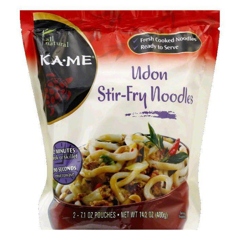 Ka Me Udon Stir-Fry Noodles, 14.2 Oz (Pack of 6)