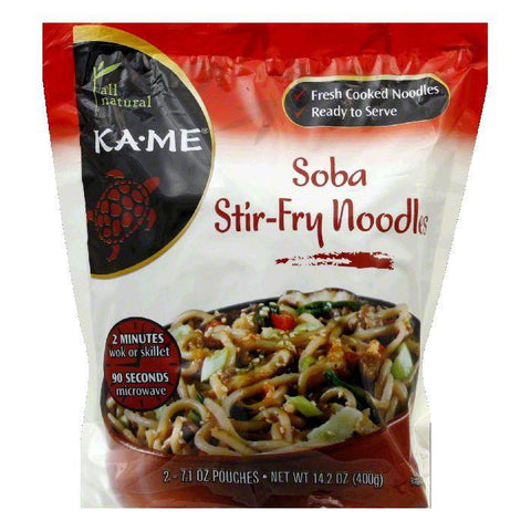 KA ME Soba Stir-Fry Noodles, 14.2 Oz (Pack of 6)