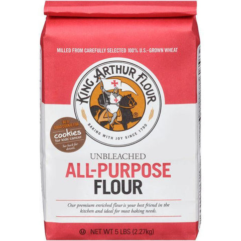 King Arthur Flour All-Purpose Unbleached Flour 5 lb. Bag (Pack of 8)