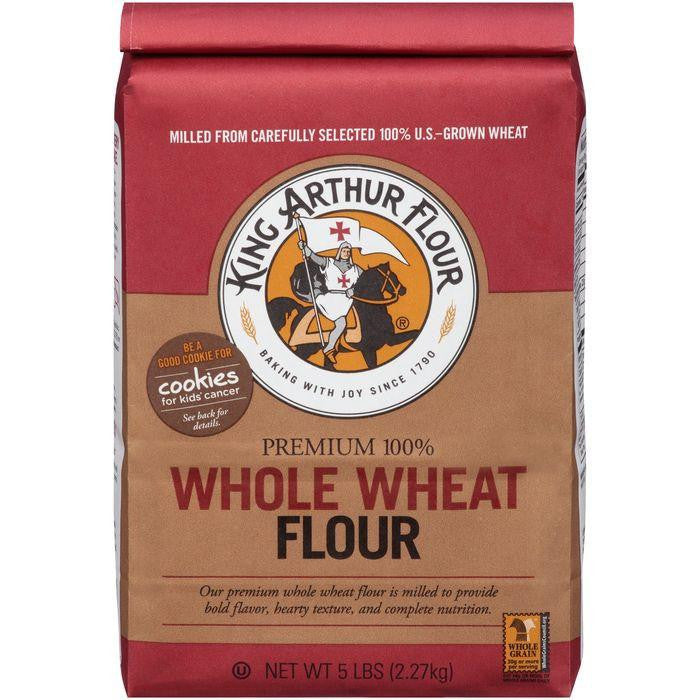 King Arthur Flour Premium 100% Whole Wheat Flour 5 lb. Bag (Pack of 8)