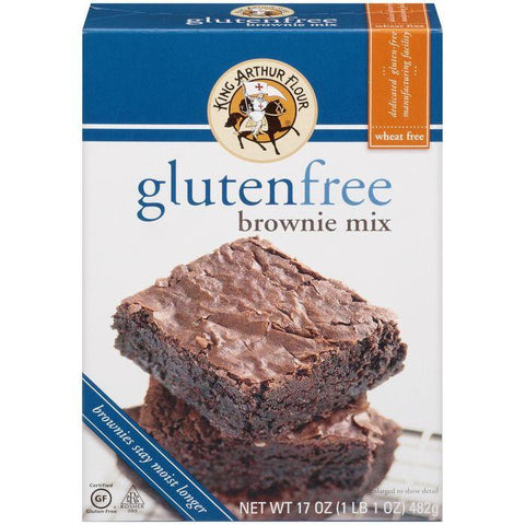 King Arthur Flour Gluten Free Brownie Mix 17 Oz (Pack of 6)