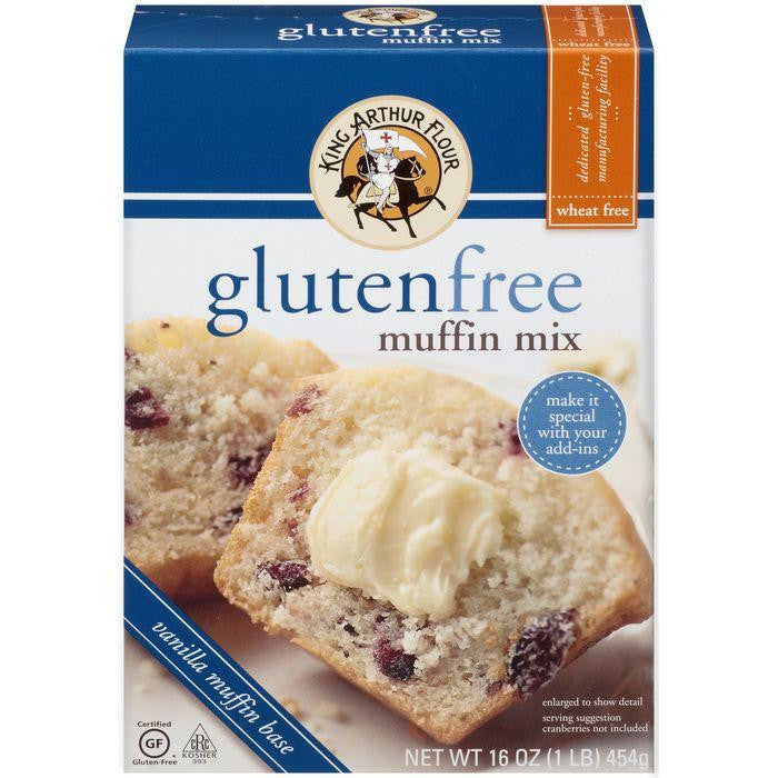 King Arthur Flour Gluten Free Muffin Mix 16 Oz  (Pack of 6)