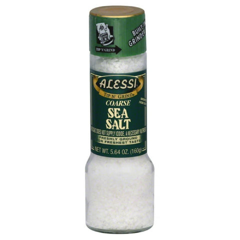 Alessi Coarse Sea Salt, 5.64 Oz (Pack of 6)