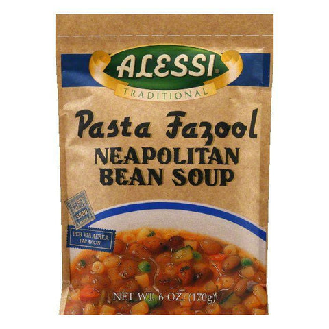 Alessi Soup Pasta Fazool Neapolitan Bean, 6 OZ (Pack of 6)