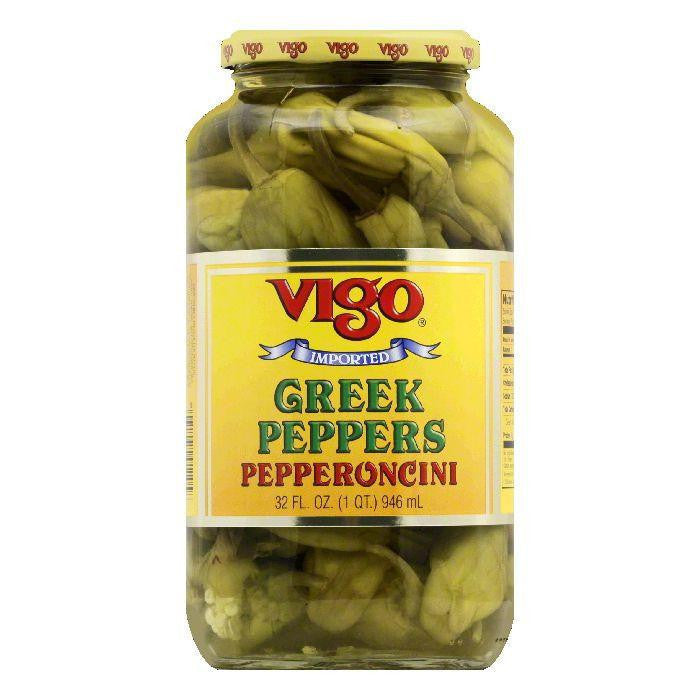 Vigo Peppers Greek, 32 OZ (Pack of 6)
