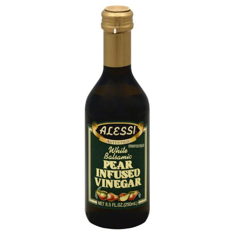 Alessi White Balsamic Pear Infused Vinegar, 8.5 Oz (Pack of 6)