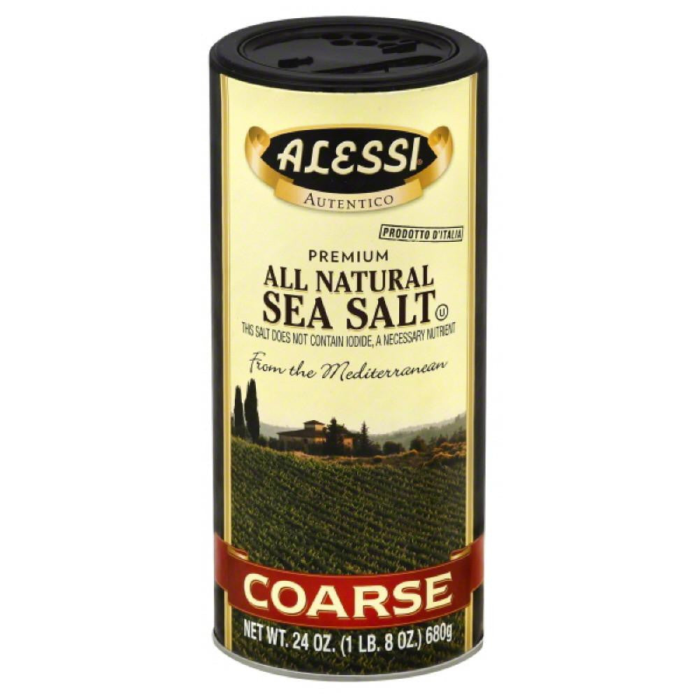 Alessi Coarse All Natural Sea Salt, 24 Oz (Pack of 6)