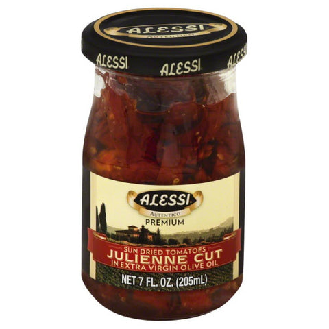 Alessi Julienne Cut in Extra Virgin Olive Oil Sun Dried Tomatoes, 7 Oz (Pack of 6)