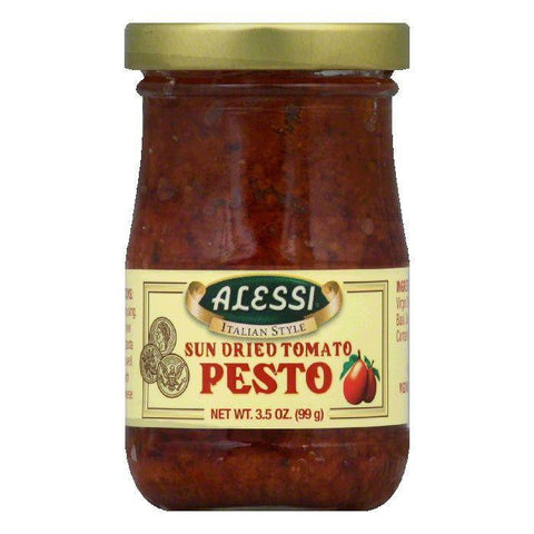 Alessi Sun Dried Tomato Pesto, 3.5 OZ (Pack of 12)