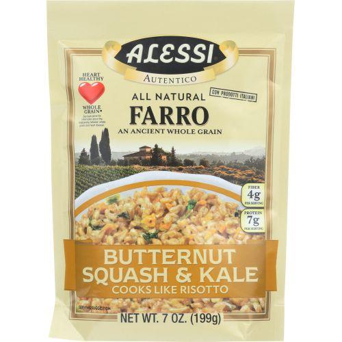 Alessi All Natural Farro Butternut Squash & Kale, 7oz (Pack of 6)