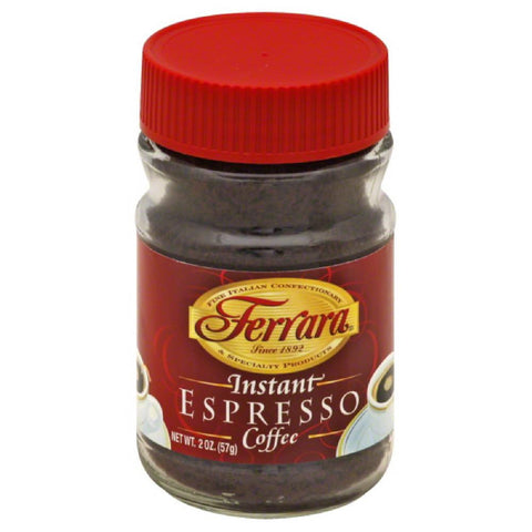 Ferrara Espresso Instant Coffee, 2 Oz (Pack of 12)