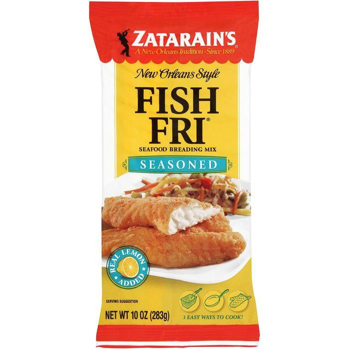 Zatarain's Fish-Fri Seasoned Seafood Breading Mix 10 Oz Bag (Pack of 12)
