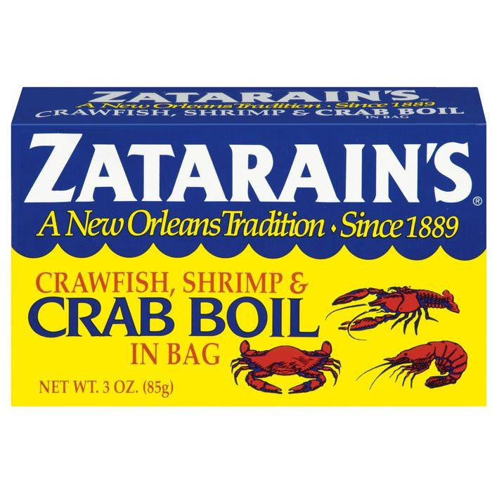 Zatarain's Crawfish, Shrimp & Crab Boil in Bag 3 Oz (Pack of 6)