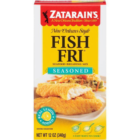 Zatarain's Fish-Fri Seasoned Seafood Breading Mix 12 Oz (Pack of 8)