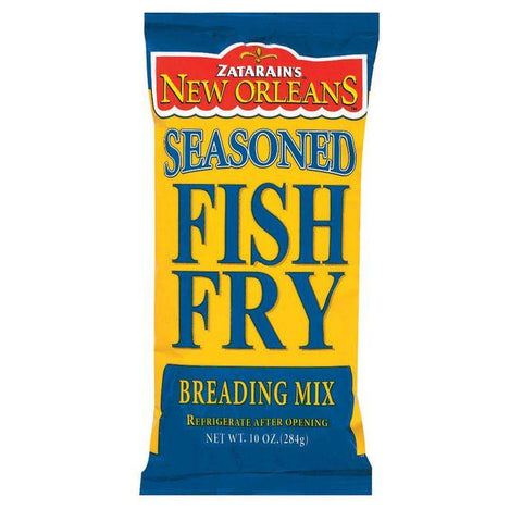 Zatarain's Seasoned Fish Fry Breading Mix 10 Oz Bag (Pack of 12)