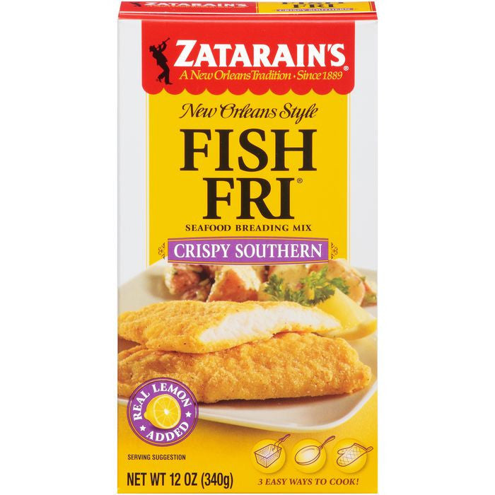 Zatarain's Fish-Fri Crispy Southern Seafood Breading Mix 12 Oz (Pack of 8)