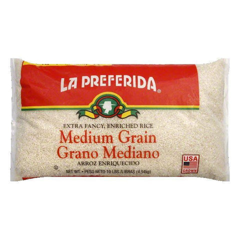 La Preferida Rice Medium Grain, 10 LB (Pack of 4)