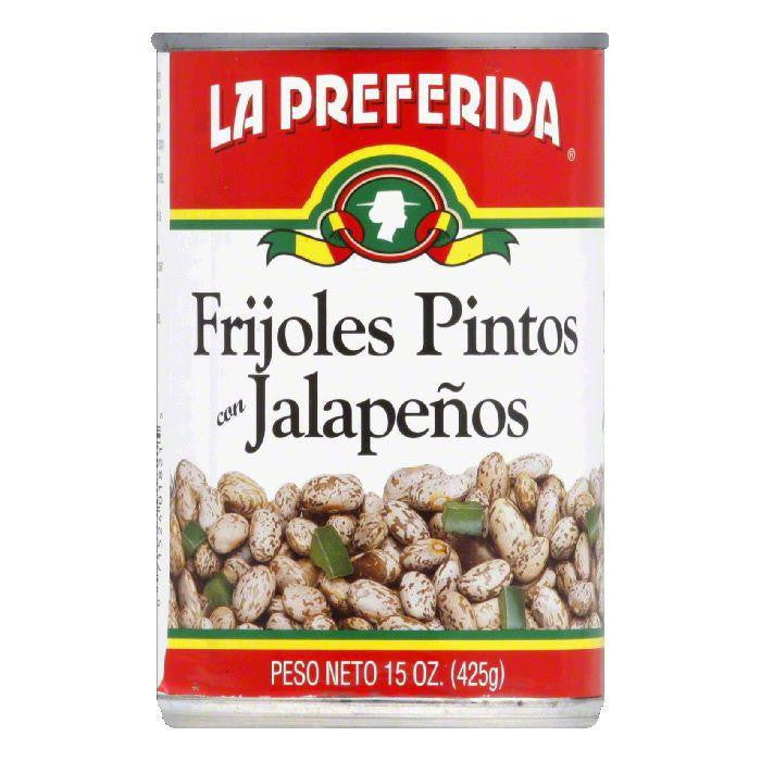 La Preferida Pinto Beans Jalapenos, 15 OZ (Pack of 12)