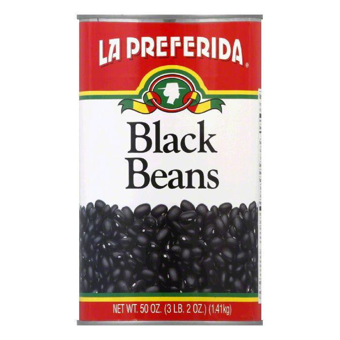 La Preferida Beans Black, 50 OZ (Pack of 12)