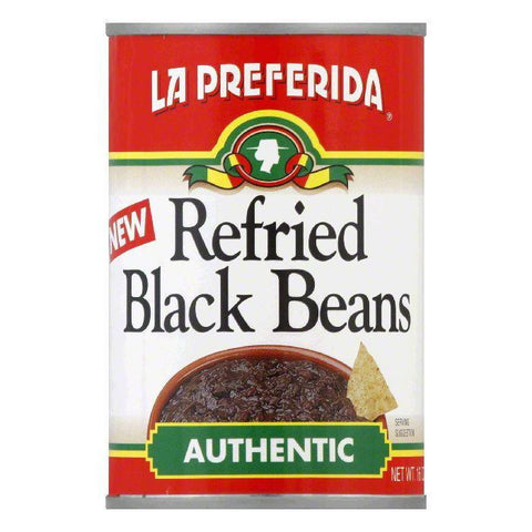La Preferida Refried Black Beans Authentic, 16 OZ (Pack of 12)