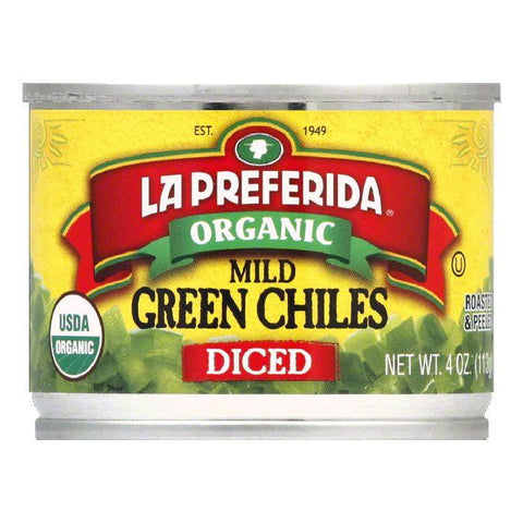 La Preferida Diced Mild Green Chiles, 4 OZ (Pack of 12)