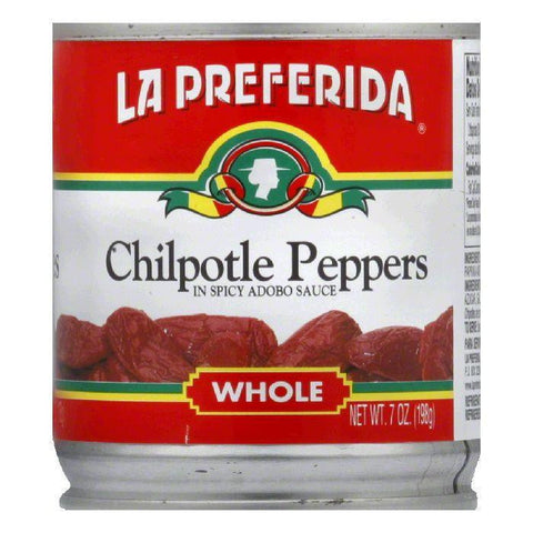 La Preferida Chiles Chipotle Whole, 7 OZ (Pack of 24)