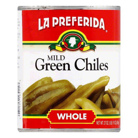 La Preferida Chiles Green Whole, 27 OZ (Pack of 12)