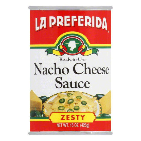 La Preferida Sauce Nacho Cheese Zesty, 15 OZ (Pack of 12)