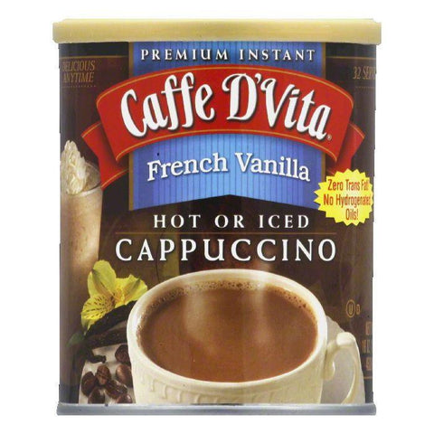 Caffe D Vita French Vanilla Cappuccino Mix 99.7% Caffeine Free, 1 LB (Pack of 6)