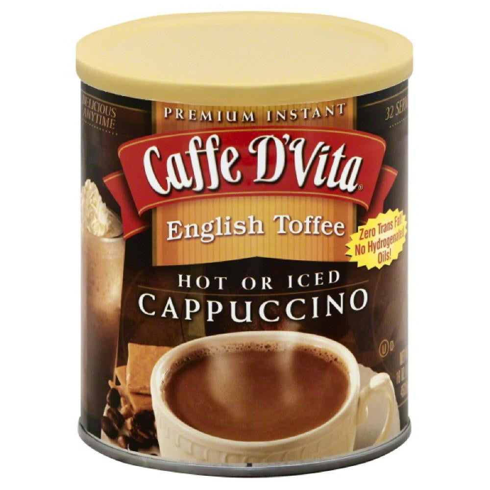 Caffe D Vita English Toffee Premium Instant Cappuccino, 16 Oz (Pack of 6)