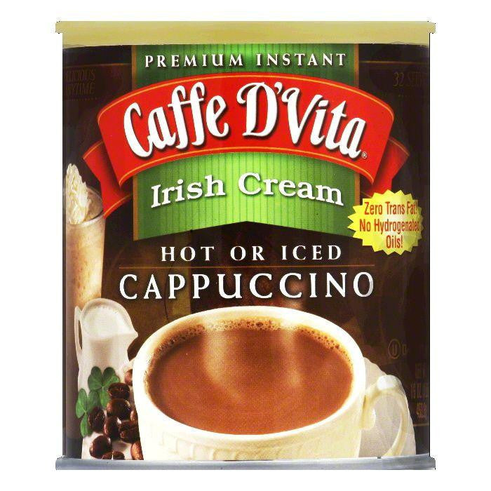 Caffe D Vita Irish Cream Cappuccino Mix 99.7% Caffeine Free, 1 LB (Pack of 6)