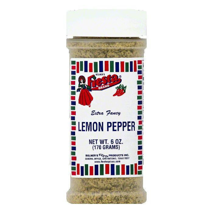 Fiesta Extra Fancy Lemon Pepper, 6 OZ (Pack of 6)