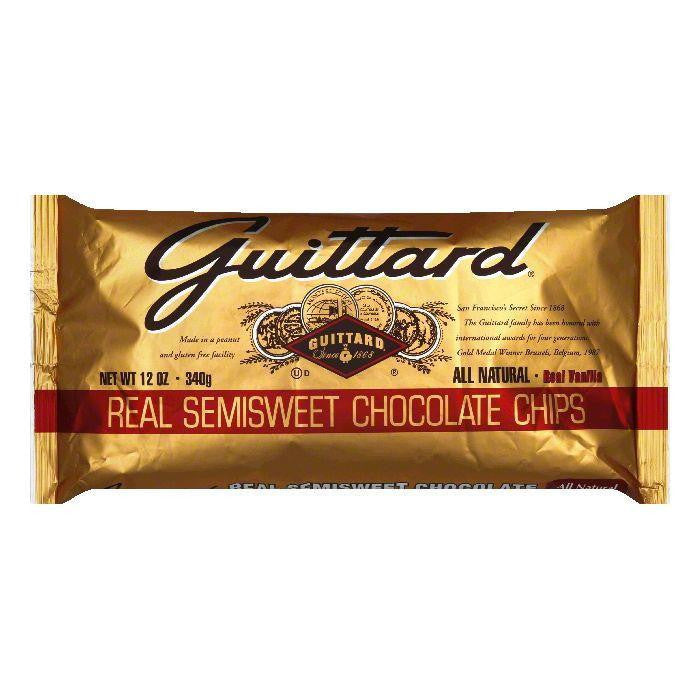 Guittard Semisweet Chocolate Chips, 12 OZ (Pack of 12)