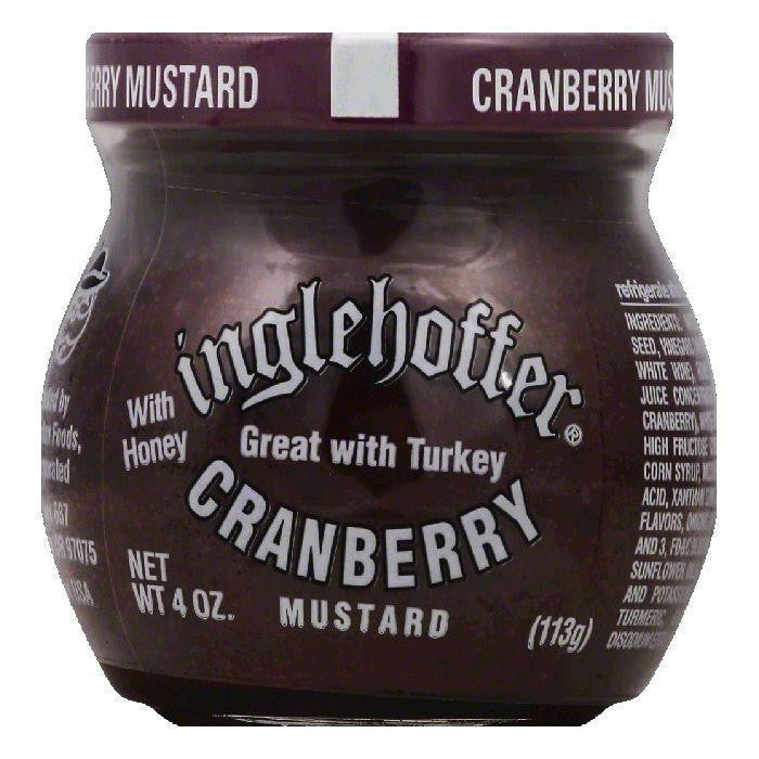 Inglehoffer Cranberry Mustard with Honey, 4 OZ (Pack of 12)