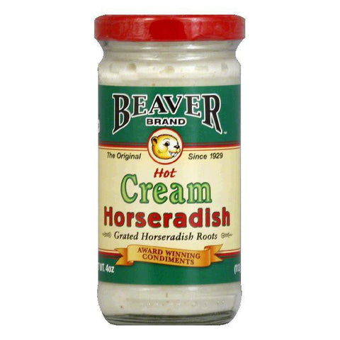 Beaver Cream Style Horseradish, 4 OZ (Pack of 12)
