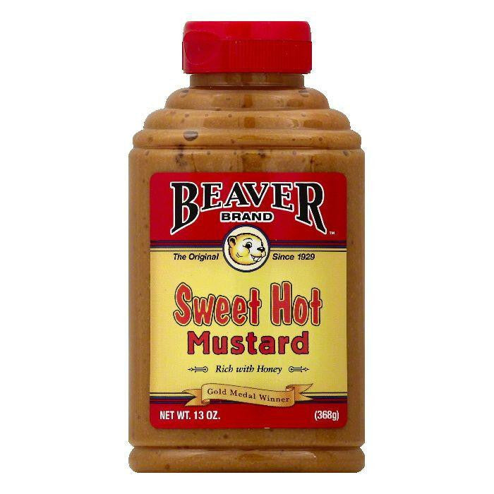 Beaver Brand Sweet Hot Mustard, 13 OZ (Pack of 6)