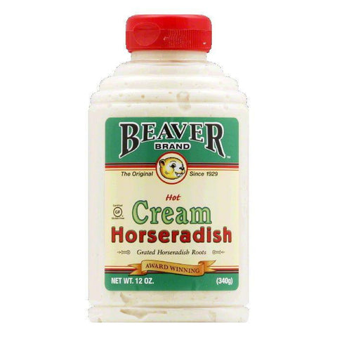 Beaver Cream Style Horseradish, 12 OZ (Pack of 6)