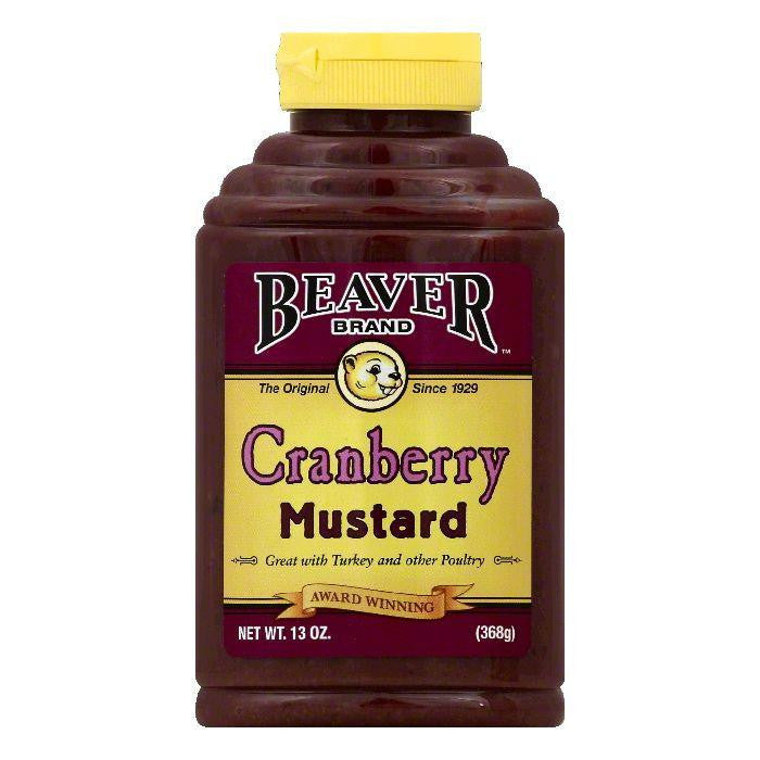 Beaver Brand Cranberry Mustard, 13 OZ (Pack of 6)