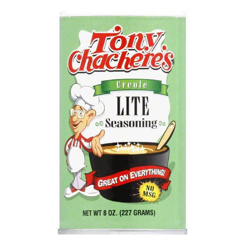 Tony Chachere's Seas Lite Salt, 8 OZ (Pack of 6)