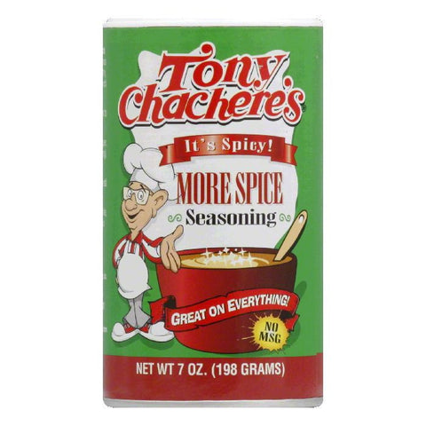 Tony Chachere's Seasoning More Spice, 7 OZ (Pack of 6)