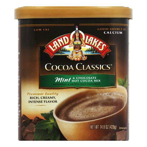 Land O Lakes Mint & Chocolate Hot Cocoa Mix, 14.8 OZ (Pack of 6)