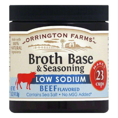 Orrington Farms Low Sodium Beef Flavor Granular Base, 5 OZ (Pack of 6)